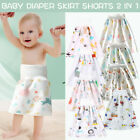 Cotton 2 in 1 Baby Boys Girls Comfy Reusable Diaper Skirt Shorts Training Skirt