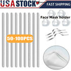 Kyпить 85mm Adhesive Metal Flat Nose Strips Bridge Wire Clips Ties for DIY Face mask на еВаy.соm
