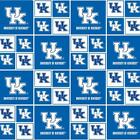 University of Kentucky Wildcats Box Pattern Fabric 100% Cotton