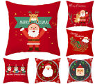 Christmas red throw pillow covers, New Year Decorative pillowcase, holiday gifts