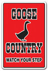 GOOSE COUNTRY Decal farm animals watch your step redneck parking