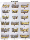 Personalized Silver Gold Script Double Any Name Plate Necklace + Chain New A++
