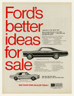 Ford's Better Ideas For Sale Vintage Car Advertising Poster
