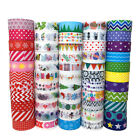 10x Christmas Washi Tape Set Stickers DIY Scrapbooking Planner Stationery Craft