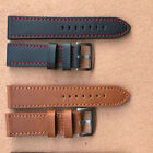 Unisex Genuine Leather Writst Watch Band Replacement Strap Band 18/20/22/24mm