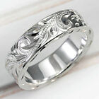 Fashion Carved 925 Silver Rings For Women Party Jewelry Rings Size 6-10