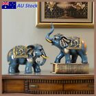 Elephant Resin Pairs Statue Ornament Figurine Art Lucky Wealth Home Decor Gift