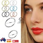 Stainless Steel Fake Nose Ring Hoop Nose Stud Rings Body Piercing Ear Jewelry Au