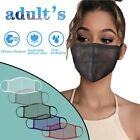 Mesh Hollow Breathable Face Mask Washable Proof Protect Face Mouth Cover Outdoor