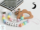 Rainbow Silicone Pacifier Clip Teether Toy Personalised Dummy Clip Teething Girl