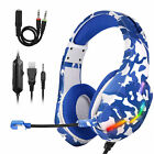 3.5mm Wired Gaming Headset with Mic for PS5 PC Mac Laptop New Xbox One Headphone