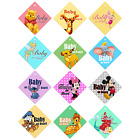 DISNEY CHARACTERS Car Windows Baby on Board Sign Sticker for Boys and Girls Kids
