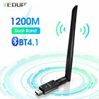 EDUP USB 150-1200Mbps Wifi Bluetooth Adapter Dongle for PC