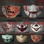 Halloween Face Mask Funny Scary Fashion Washable Reusable Face Covers Horror US