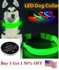 Внешний вид - LED Adjustable Dog Collar Blinking Night Flashing Light Up Glow Pets Safety USA