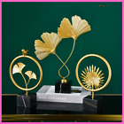 Leaf Model Home Office Decor Accessories Gift Metal Figurine Wrought Iron Flower