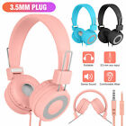 Cat Ear Bluetooth 5.0 Wireless LED Headphones For Girls Kids Mic Stereo Headsets