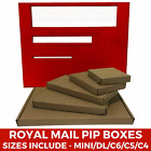 Royal Mail PiP Boxes For Large Letters C4 C5 C6 C7 DL Card board Postal Mailing