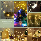 LED Curtain Window Snowflake String Fairy Colour Light Waterproof Xmas Decor