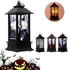 Portable Halloween Vintage Lantern Party Hanging Decor LED Light Lamp