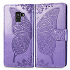 Butterfly Pattern Leather Case For Samsung A6 Plus A8 A7 2018 Wallet Stand Cover