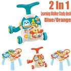 Multi-functional Baby Walker Activity Stand Walk Learning Toy Musical Trolley Us