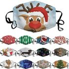 Christmas Funny Face Mask Washable Reusable Protective Covering Mouth Mask Print