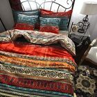 Best Bohemian 3 Pieces Exotic Style Bedding Duvet Cover Sets (King, Duvet Cover