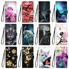 Magnetic Flip Leather Strap Stand Case Card Slots Cover For Lots Phone Model
