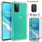 For OnePlus 8T Shockproof Soft Case Cover + Camera Film + Glass Screen Protector
