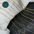 Unique Gold Plate Womens Girls Solid Necklace Chain For Pendant Fashion Jewelry