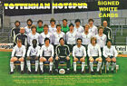 TOTTENHAM HOTSPUR FC AUTOGRAPHS SIGNED WHITE CARDS FROM 1970-80'S