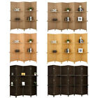 4/6 Panel Room Wall Divider Diamond Foldable Privacy Screen with Shelves 3 Color
