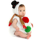 Christmas Infant Baby Boys Girls Xmas Snowman Modelling Fleece Romper Scarf Sets