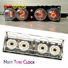 4-bits Glow Tube Nixie Clock QS30-1 Tube with Remote Control LED Backlight