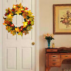 LED Maple Leaves Fall Garland Light Pumpkin Berry Wreath Decors Halloween Xmas