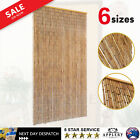 Bamboo Door Curtain Insect Mosquito Fly Screen Wooden Stems Home Decor Blinds
