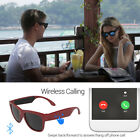 Wireless Bone Conduction Bluetooth Smart Sunglasses Headset W/MIC For Phone
