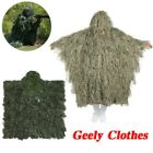 Outdoor Ghillie Poncho Camo Cape Cloak Military Woodland Hunting 3D Grass Poncho