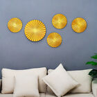 Fan-shaped Living Room Background Wall Hanging Ornaments Metal Home Art Decor