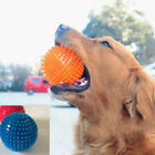 Dog Rubber Toy Bouncy Floating Teeth Cleaning Spiky Squeaky Ball Dog Toys Q0E