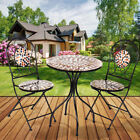Mosaic Bistro Set Table Folding Chair Home Garden Outdoor Patio Furnitur