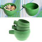 Mini Parrot Food Water Bowl Feeder Plastic Birds Pigeons Cage Sand Cup Feed Q0E