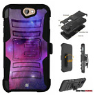 For HTC Bolt,One A9,Desire Series Hybrid Belt Clip Holster Case Galaxy Space