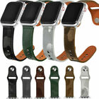 Camouflage Leather Watch Band Replacement Strap For iWatch 6 5 4 3 2 SE 38-44mm