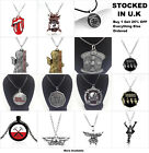 Bands Music Jewellery The Beatles Guns N' Roses Iron Maiden Pendant Necklace