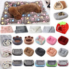 Pet Dog Cat Puppy Winter Warm Mattress Calming Bed Mat Crate Kennel Soft Blanket