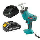 18V Cordless Reciprocating Saw Sabre Jigsaw Kit 1/2 Pack Battery For Makita