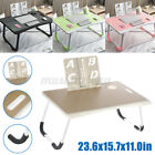 Laptop Stand Table Foldable Desk Computer Study Bed Adjustable Portable Cup Slot