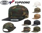 YUPOONG Camouflage SNAPBACK Adjustable MultiCam CAMO Cap Hat New!